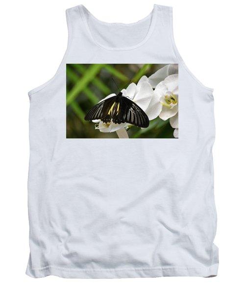Black Butterfly Tank Top