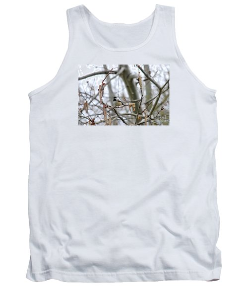 Tank Top featuring the photograph Black-capped Chickadee 20120321_39b by Tina Hopkins