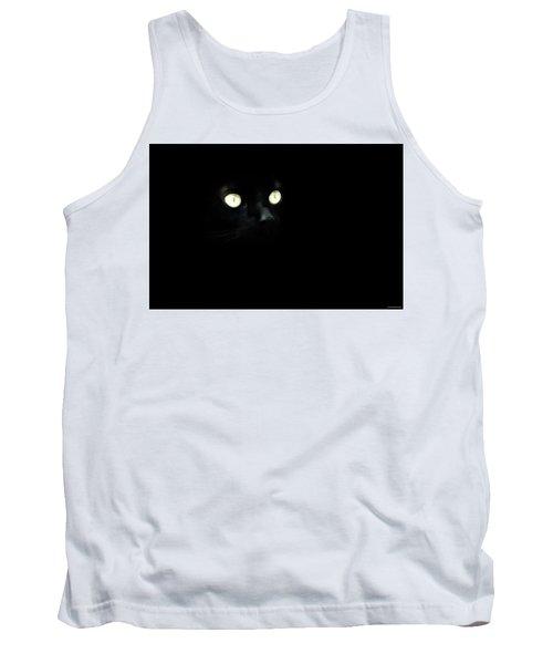 Black Cat Tank Top by Ryan Wyckoff