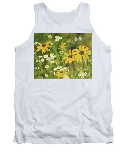 Black-eyed Susans In A Field Tank Top