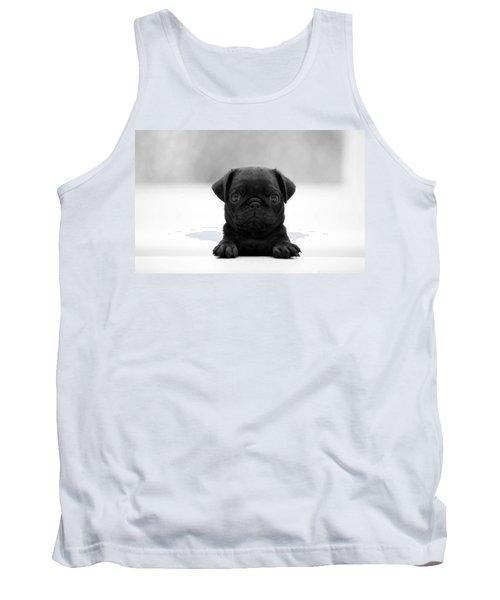 Black Pug Tank Top