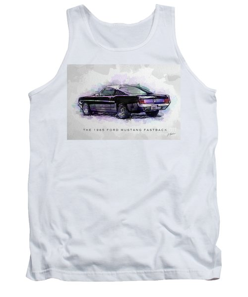 Black Stallion 1965 Ford Mustang Fastback Tank Top