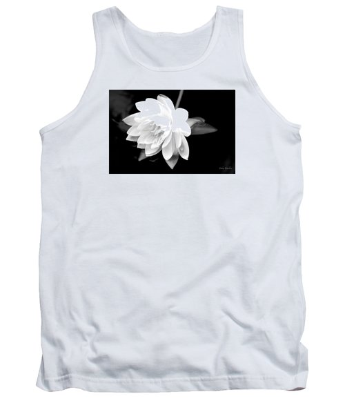 Black/white Lotus Tank Top