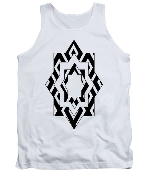 Black White Pattern Art Tank Top