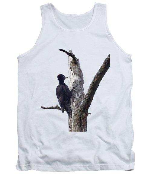 Black Woodpecker Transparent Tank Top