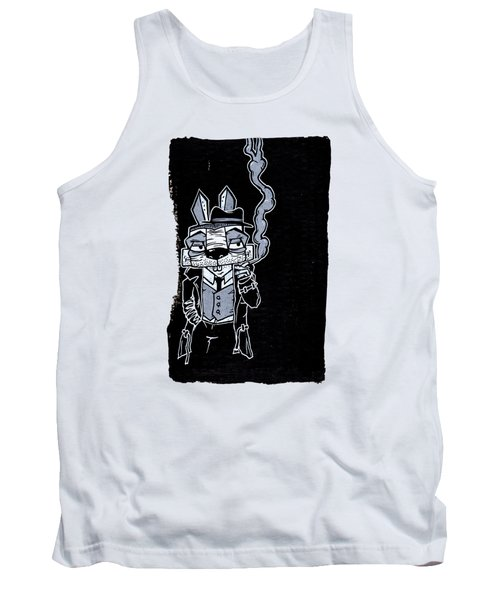 Blake Burns Detective Bunny Tank Top by Bizarre Bunny