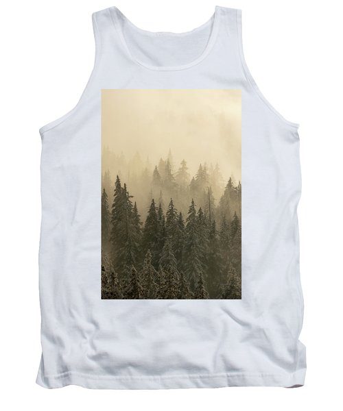Tank Top featuring the photograph Blanket Of Back-lit Fog by Dustin LeFevre
