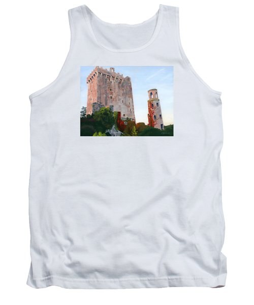 Tank Top featuring the painting Blarney Castle by Lynne Reichhart