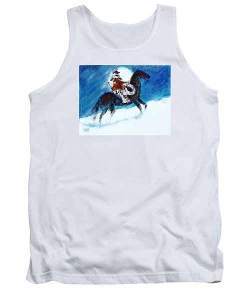 Tank Top featuring the painting Blizzard Moon-the Last Stray by Seth Weaver