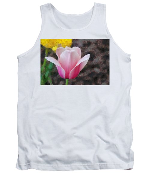 Tank Top featuring the mixed media Bloomin' by Trish Tritz