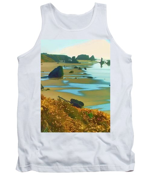 Tank Top featuring the photograph Blooming Bandon Watercolor by Wendy McKennon