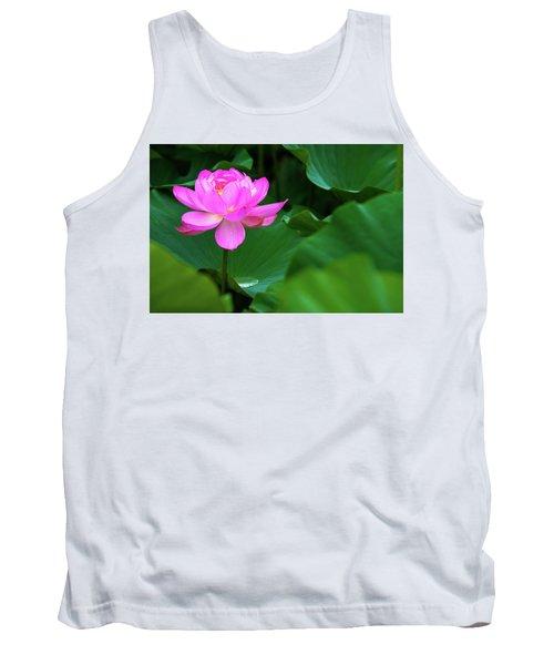Blooming Pink Lotus Lily Tank Top