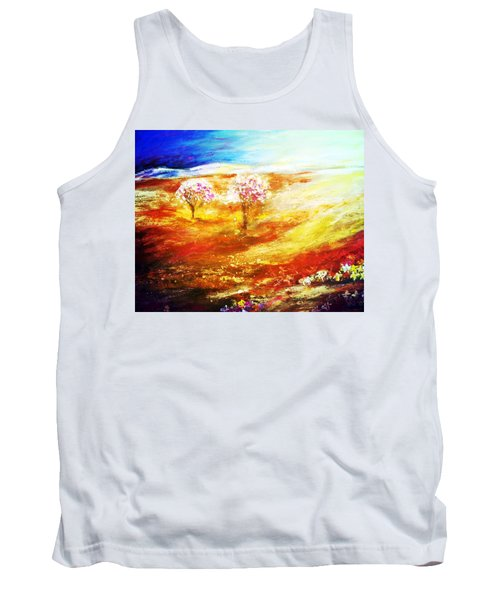 Tank Top featuring the painting Blossom Dawn by Winsome Gunning