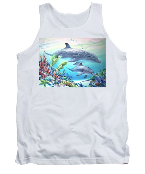 Blowing Bubbles Tank Top by William Love