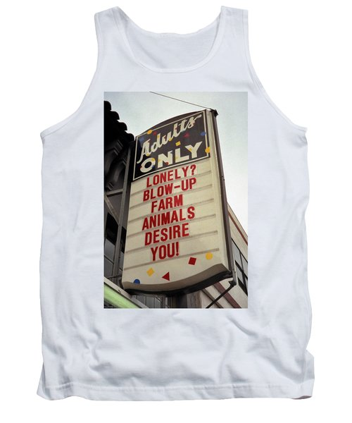 Blowup Farm Animals Sign Tank Top