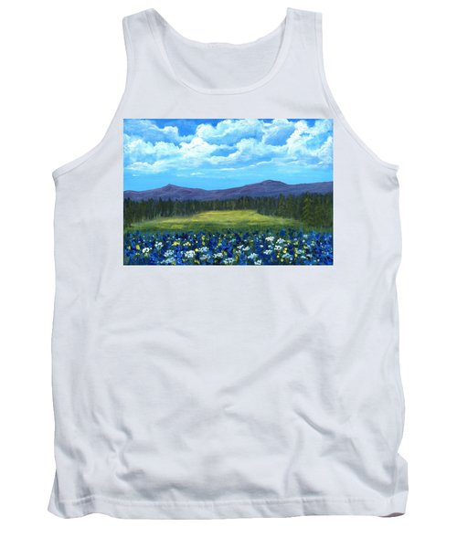 Tank Top featuring the painting Blue Afternoon by Anastasiya Malakhova