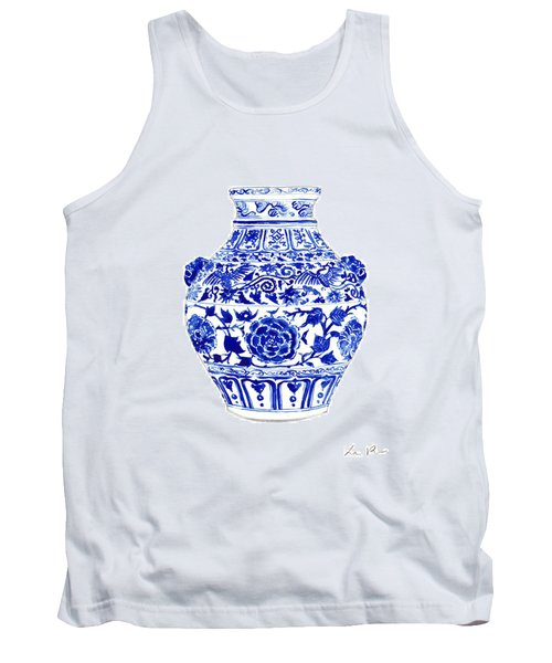Blue And White Ginger Jar Chinoiserie 4 Tank Top