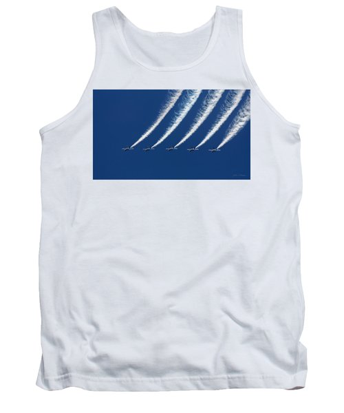 Blue Angels Formation Tank Top by John A Rodriguez