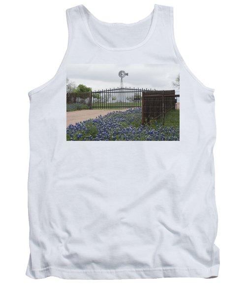 Blue Bonnets By Gate Tank Top