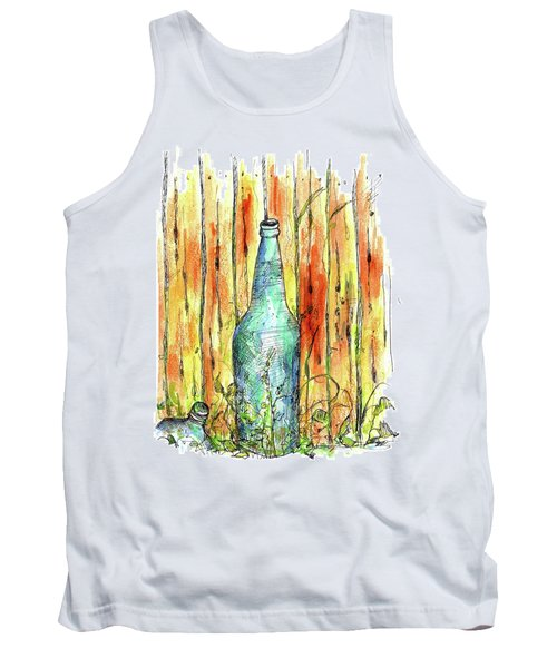Tank Top featuring the painting Blue Bottle by Cathie Richardson
