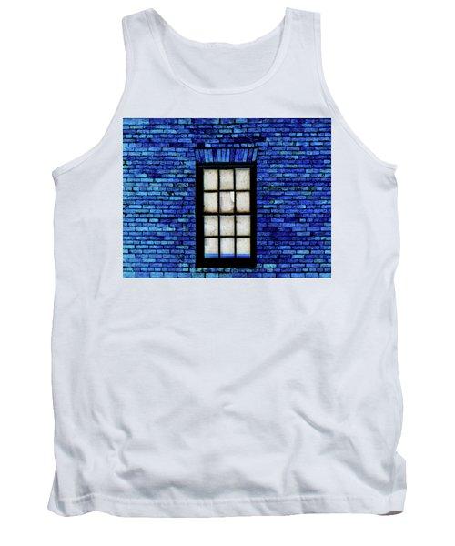 Tank Top featuring the digital art Blue Brick by Robert Geary