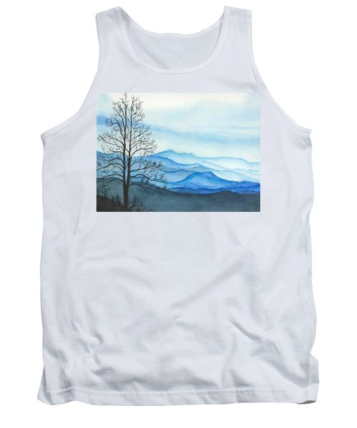 Tank Top featuring the painting Blue Calm by Rachel Hames