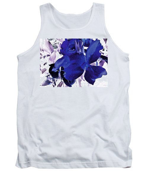 Tank Top featuring the photograph Blue Canna Lily by Shawna Rowe