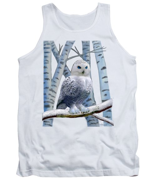 Blue-eyed Snow Owl Tank Top