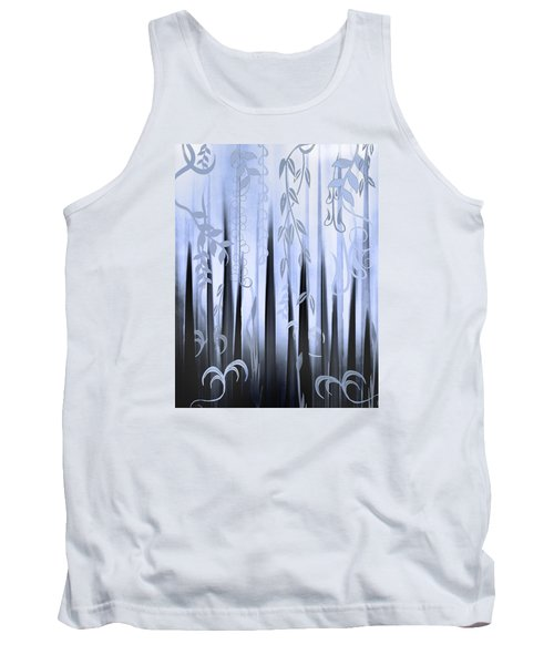 Tank Top featuring the painting Blue Forest by Deborah Smith