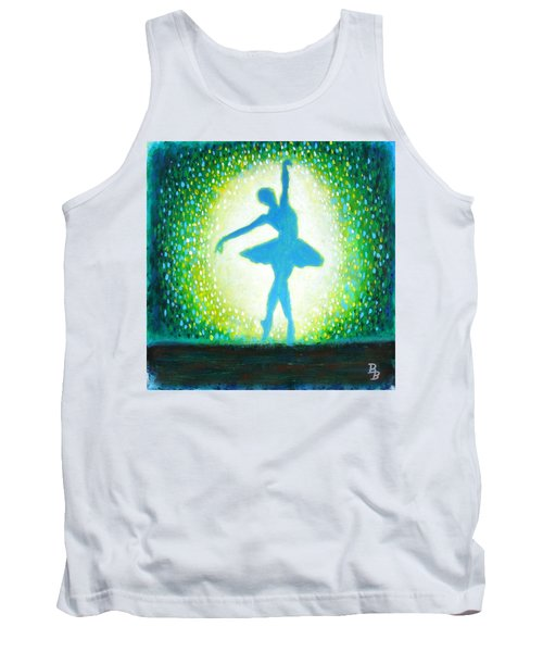 Tank Top featuring the painting Blue-green Ballerina by Bob Baker