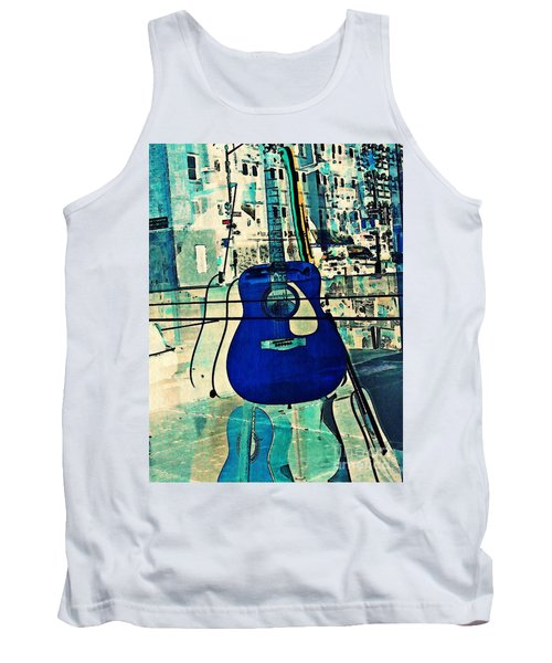 Blue Guitar Tank Top