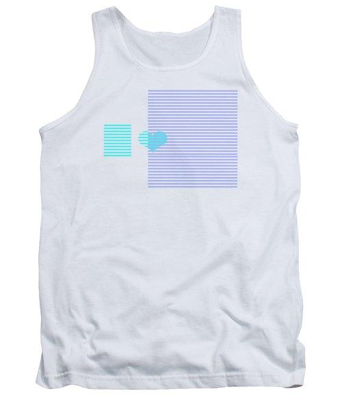 Blue Heart Stripes Tank Top