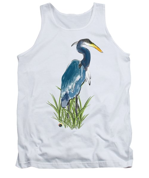 Blue Heron Tank Top by Devon LeBoutillier