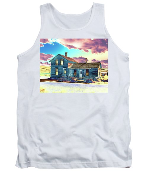 Tank Top featuring the photograph Blue House by Jim and Emily Bush