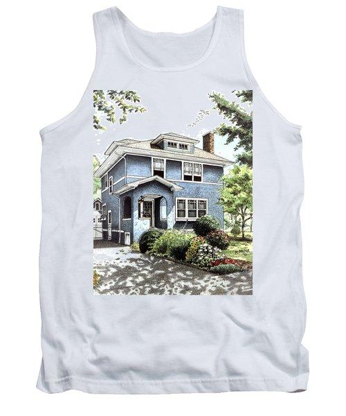 Blue House Tank Top