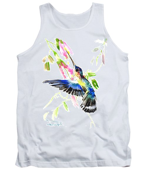Blue Hummingbird Tank Top