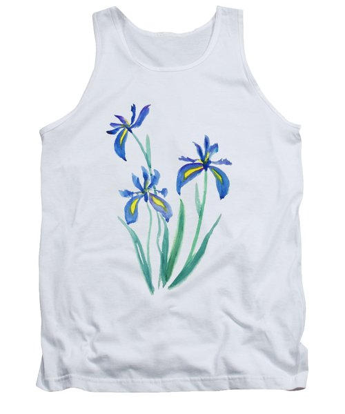 Blue Iris Tank Top by Color Color