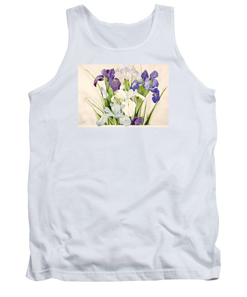 Blue Irises-posthumously Presented Paintings Of Sachi Spohn  Tank Top