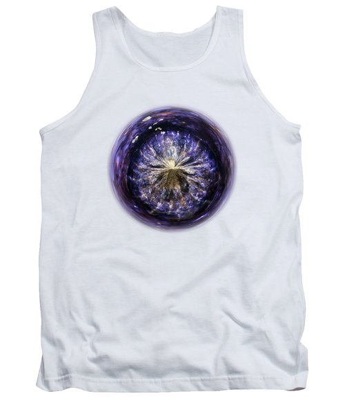 Blue Jelly Fish Orb On Transparent Background Tank Top by Terri Waters