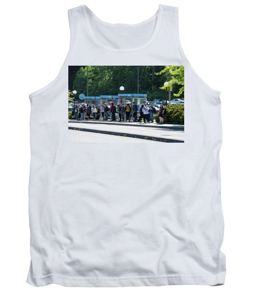 Blue Line On Campus Tank Top