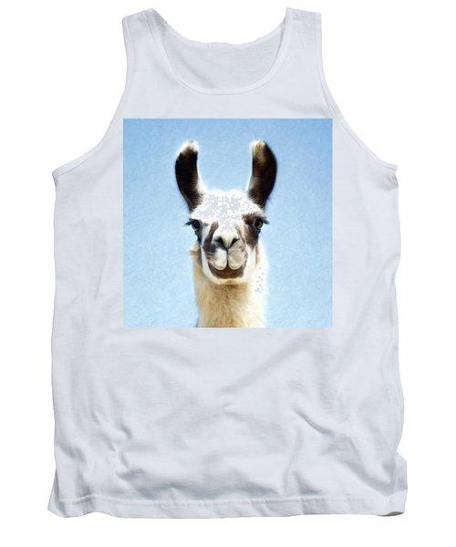 Blue Llama Tank Top