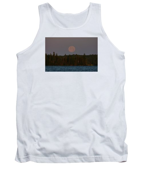 Blue Moon Over Berry Lake Tank Top by Steven Clipperton