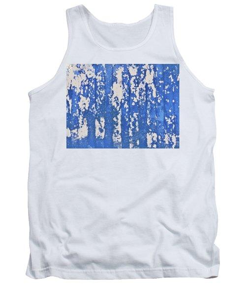 Blue Painted Metal Tank Top