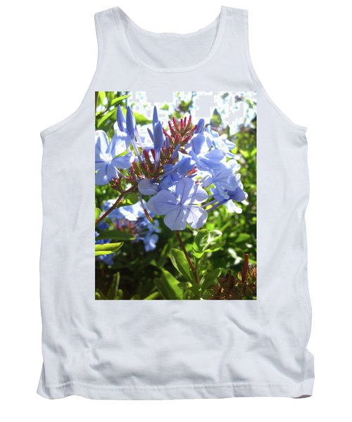 Tank Top featuring the photograph Blue Plumbago by Mary Ellen Frazee