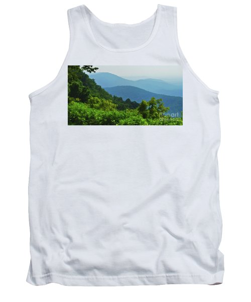 Blue Ridge Mountain Layers Tank Top by Kerri Farley