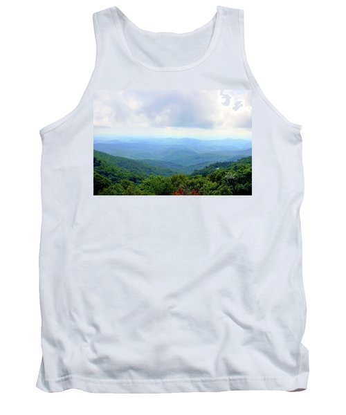 Tank Top featuring the photograph Blue Ridge Parkway Overlook by Meta Gatschenberger