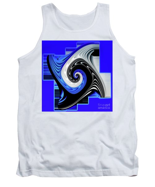 Tank Top featuring the digital art Blue River by Shadowlea Is