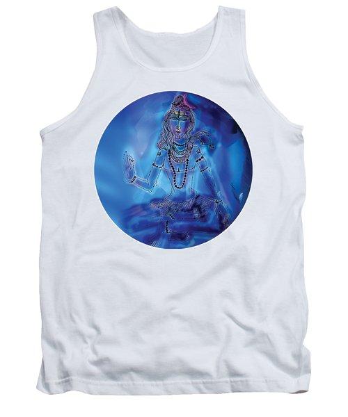Blue Shiva  Tank Top