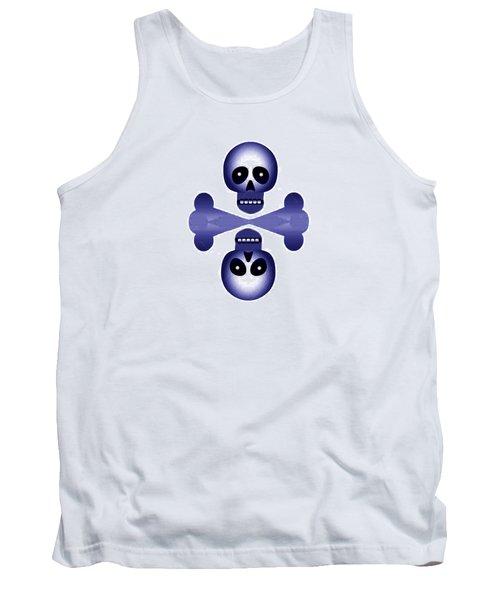 Blue Skulls Tank Top