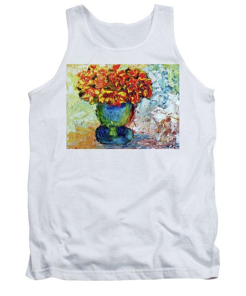 Blue Vase Tank Top by Lynda Cookson